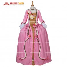 Women's Gothic Evening Rococo Ball Gown Pink Dress Costume