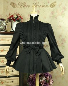 Royal Stand Collar Slim Gothic Lolita Blouse