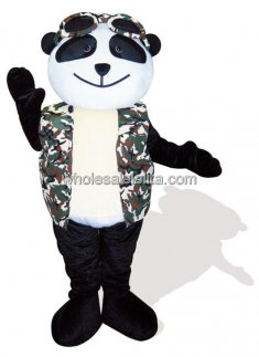 Male Panda Plush Adult Mascot Costume