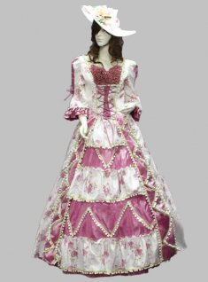 17 18th Century Violet/Pink Baroque Rococo Marie Antoinette Ball Gown A Line Prom Dress