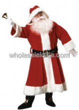 Traditional Plush Santa Claus Long Costume