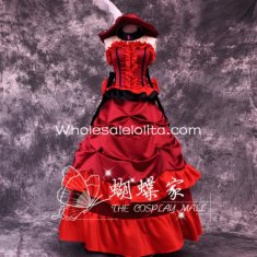Black Butler Madam Red Cosplay Costume Party Dress