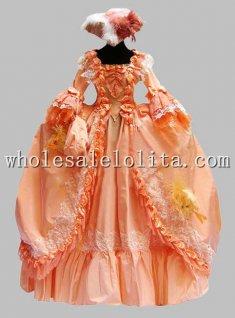 Deluxe Corset Top Long Sleeves Victorian Ball Gown Venice Carnival Costume