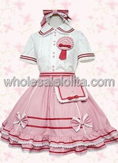 Pink Cotton Multilayer Sweet Lolita Dress