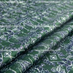 YM Vintage Baroque Fabric DarkGreen