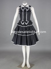 Black Cosplay Dress with Bow Cosplay Costume Lolita Dress