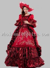 Hot Sale 17 18th Century Marie Antoinette Baroque Rococo A Line Prom Celebrity Evening Dress