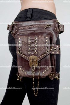 Personality steampunk female package inclined travel bag, mini pocket Waist Bags Series Armour Series Medieval Knight Bags