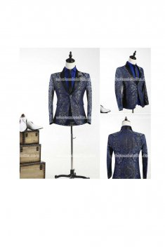 Customized Mens Blue Palace Suits Party Costume