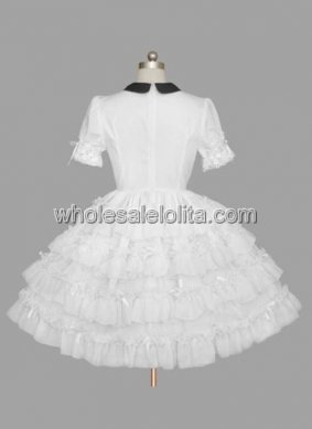 Hot Sale White Gothic Lolita Dress