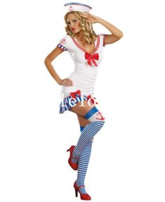 Halloween One-piece Sexy Lady Sailor Halloween Costume Dress