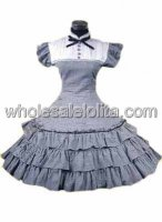 Black Checked Multilayer Cotton Classic Lolita Dress