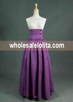 Purple Vintage High Waist Long Victorian Skirt