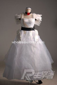 Pure White VOCALOID Cosplay Dress Cendrillon COSPLAY Costume