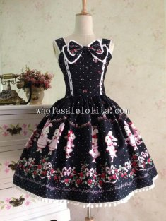 Royal Barbie Lolita Dress Print Cosplay Party Dress JSK