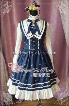 The Anchor of the Sea Printing JSK Sailor Lolita Dress