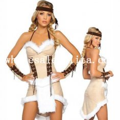 Halloween Sexy Adult Indian Cosplay Costume Dress for Women