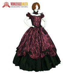 High Quality Southern Belle Evening Masquerade Victorian Dress Period Costume Ball Gown Reenactment Clothing Theatre Costume