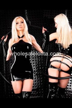 Sexy Black PVC Tight Costume Club Wear