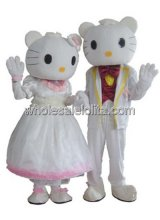 Female Hello Kitty Wedding Cartoon Character Costume