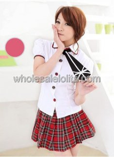 White Sexy Japanese School Girl Outfit