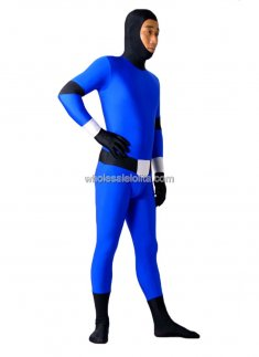 Black And Blue Spandex Zentai Costume
