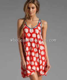 New Leisure V Neck Chiffon Summer Beach Dress