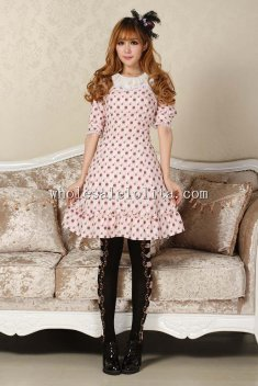 Purple Cute Dot Sweet Lolita Dress