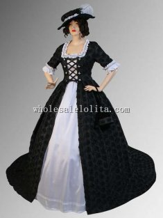 Medieval Italian Renaissance Countess Dress with Train Multiple Colors Available