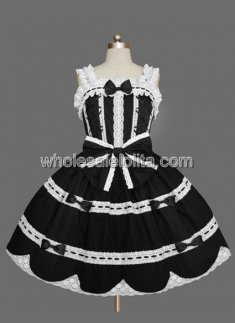 Sweet Princess Black Sweet Lolita Dress Sleeveless