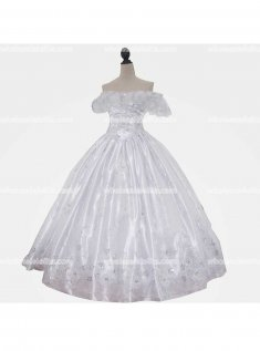 Top Sale 18th Century Marie Antoinette White Victorian Dress Wedding Dress Ball Gown