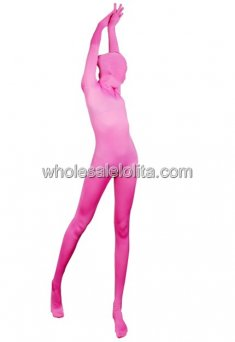 Cool Sexy Pink Full Body Lycra Spandex Zentai Suit
