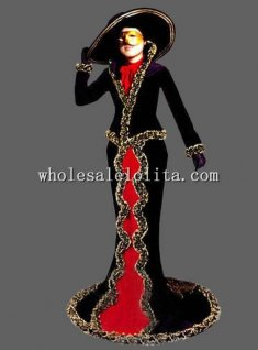 Luxury Italy CARNIVAL OF VENICE Ladies Masquerade Costume Theatrical Costume
