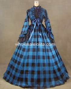 New Civil War Blend Tartan Ball Gown Prom Dress