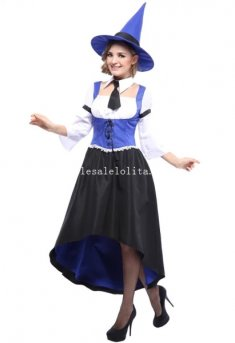 Elegant Adult Witch Halloween Costume Masquerade Party Dress