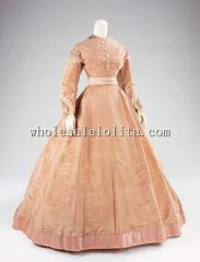 The Middle of the 19th Century Victorian Evening Dress Vintage Silk Period Ball Gowns