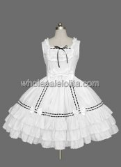White Sleeveless Multi layer Cotton Sweet Lolita Dress