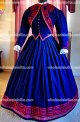 Custom Made Blue 1800s Victorian Dress - 1860s Civil War Day Gown - Reenactor Costume - Traveling Suit - Jacket Bodice Skirt