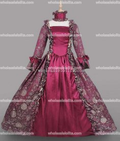 18th Century Period Dress PLUM Marie Antoinette Gown Reenactment Theater Clothing