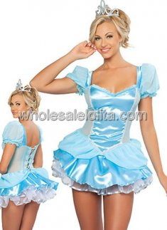 new Blue Sexy Princess Costume for Adult