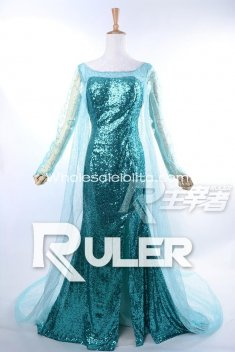 RULER High Grade FROZEN Snow Queen Elsa Cosplay Costume Custom Made