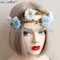 Man-made Timbo Flowers Headband Masquerade Accessories