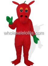 Red Donkey Adult Mascot Costume