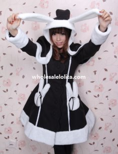 2014 Autumn/Winter Wool Lovely Rabbit Ears Lolita Coat for Girls