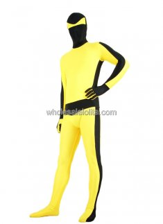 Black And Yellow Lycra Spandex Adult Spiderman Costume