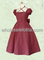 Red Lolita Dress with Bow