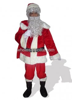 Red Santa Claus Mascot Costume