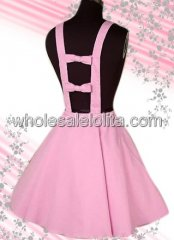 Cotton Lolita Skirt With Suspender Skirt Style