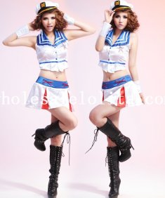 Halloween Two-piece Sexy Lady Sailor Halloween Costume Dress