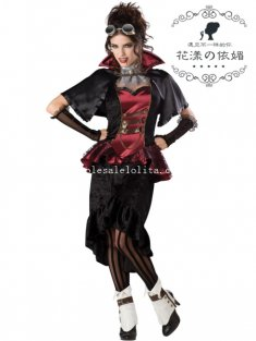 2014 New Adult Vampire Queen Halloween Costume Fancy Ball Dress
